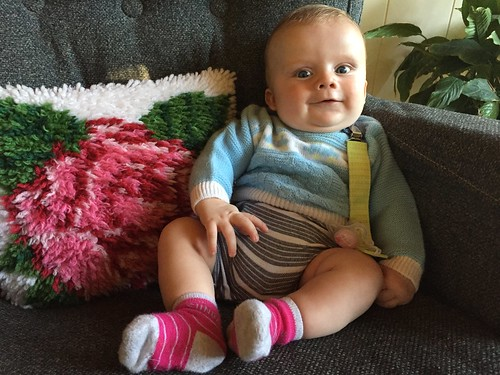 Dapper baby in authentic 80s sweater