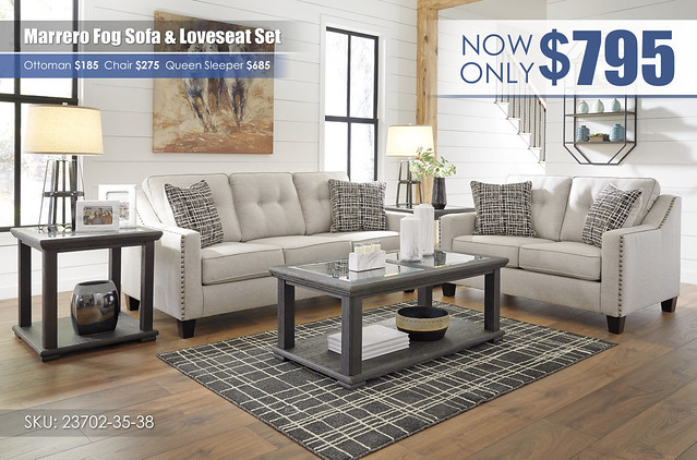Marrero Fog Sofa & Loveseat_23702-38-35-T635