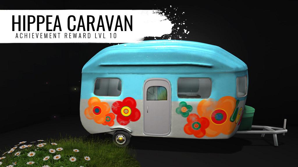 Hippie Love & Peas Caravan