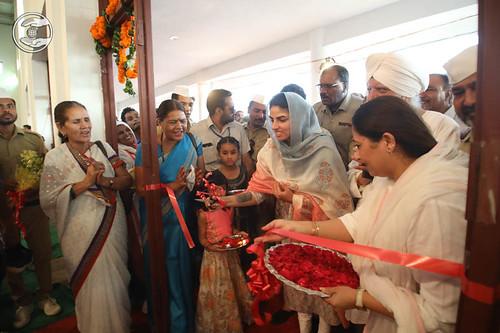 Satguru Mata Ji inaugurated newly constructed Satsang Bhawan