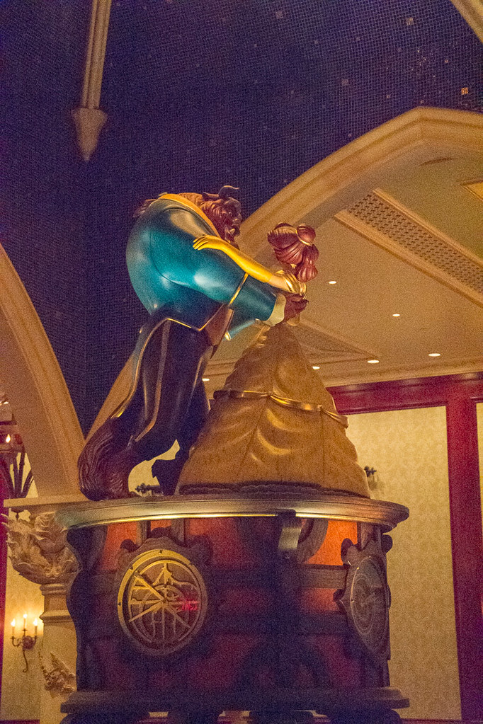 Belle and the Beast statues
