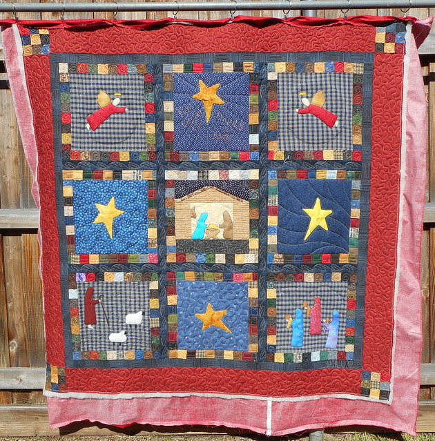 NATIVITY FOLK QUILT, Nikon COOLPIX S3700