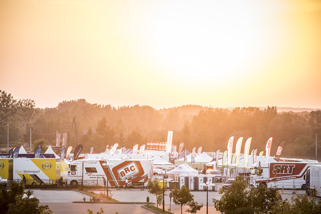 service park ambiance during the 2018 European Rally Championship PZM Rally Poland at Mikolajki from September  21 to 23 - Photo Gregory Lenormand / DPPI