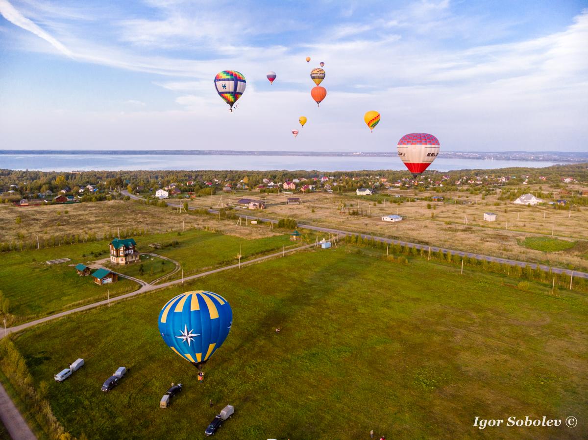 Фестиваль воздухоплавания в Переславль-Залесском. 1 день.