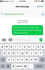 Free 'How To Prove A Texting While Driving Accident' Text Message Stock Photo