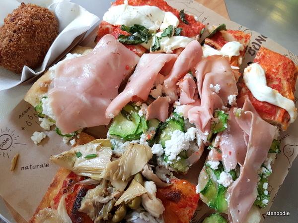 mortadella ham pizza