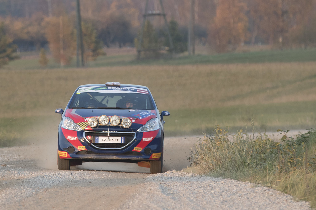 25 MUNNINGS Catie, (GBR), Anne Katharina STEIN, (DEU), Sainteloc Junior Team, Peugeot 208 R2, Action during the 2018 European Rally Championship ERC Liepaja rally,  from october 12 to 14, at Liepaja, Lettonie - Photo Gregory Lenormand / DPPI