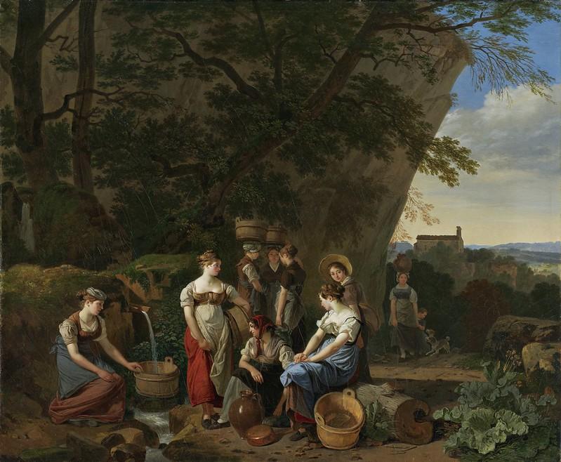 Wolfgang Adam Töpffer - Jeunes femmes auprès d'une fontaine (1830)