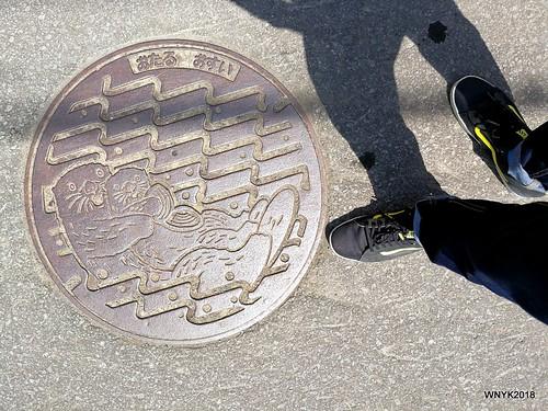 Otters on Otaru Manhole
