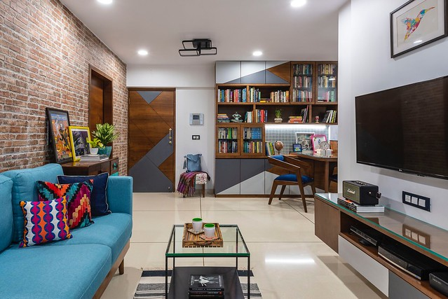 amazing how much fits in this 800 sq.ft apartment in Mumbai