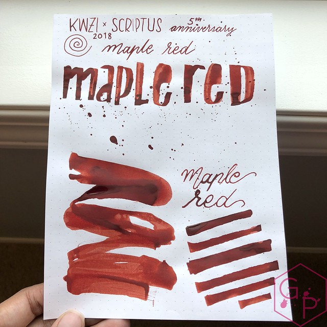 Scriptus Toronto Writing Show 2018 Inks - Maple Red & Northern Twilight! 27