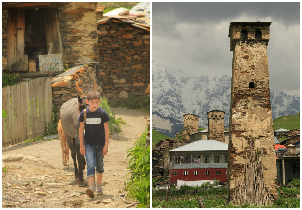 Horse rides and Svan Towers, Ushguli