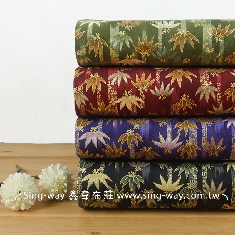 燙金棕櫚葉(大特價) 書生 文青風 樹葉 手工藝DIY布料 CA450769