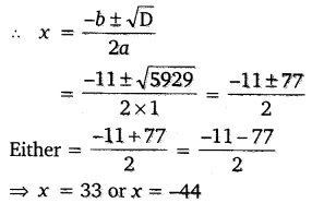 NCERT Solutions for Class 10 Maths Chapter 4 Quadratic Equations 36