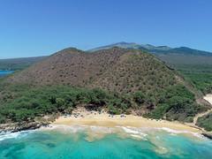 Hawaii Maui Makena Little Beach Luftbild