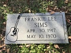 Frankie Lee Sims Burial Site