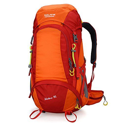 Cheap BOLANG Summit 45 Internal Frame Pack Hiking Daypack Outdoor Waterproof Travel Backpacks 8298 (Orange, 45l)