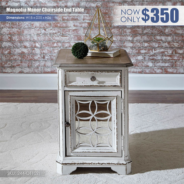 Magnolia Manor Chairside End Table_244-ot1021