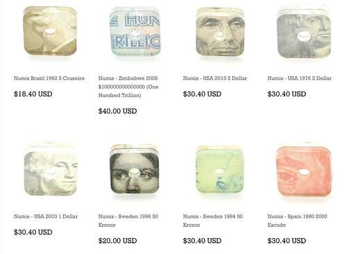 Banknote cufflinks