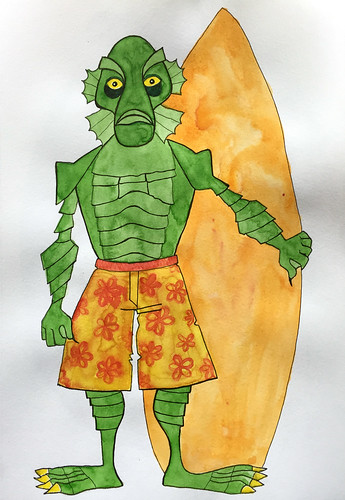 27 - Creature from the Black Lagoon - Surfer