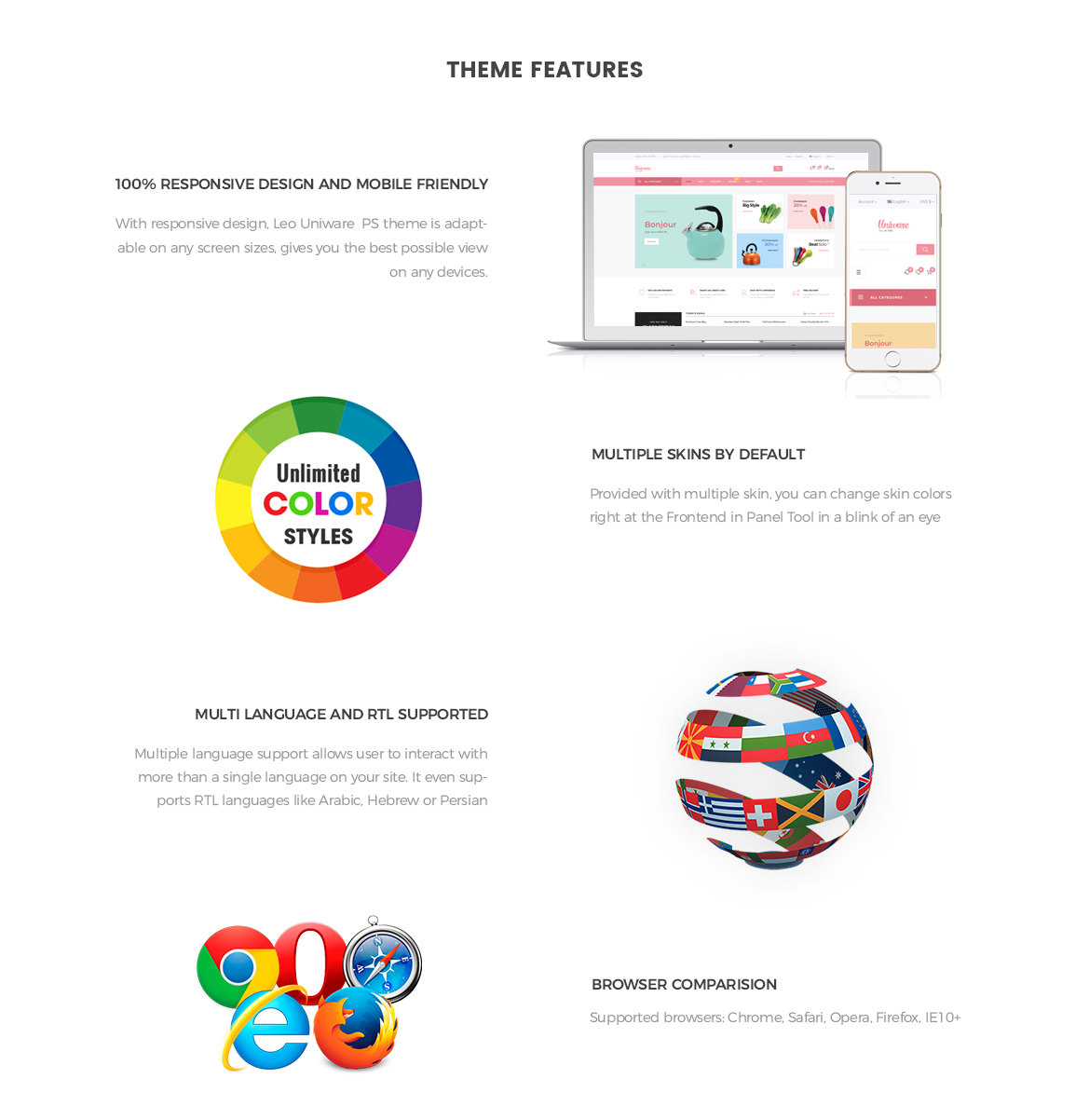 Prestashop 1.7 theme features-Leo Uniware Prestashop Theme - Kitchen Tool, Cookware, Kitchenware