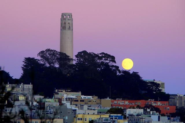 Harvest Moon Rising, Canon EOS REBEL T3I, Tamron 18-250mm f/3.5-6.3 Di II LD Aspherical [IF] Macro