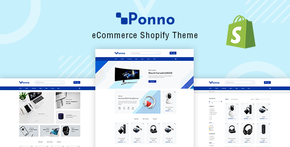 Ponno – Electronics eCommerce Shopify Theme + RTL + Dropshipping