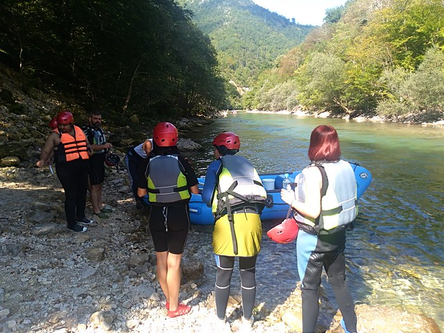 Konjic rafting on Neretva