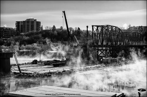 Construction on the Traffic Bridge
