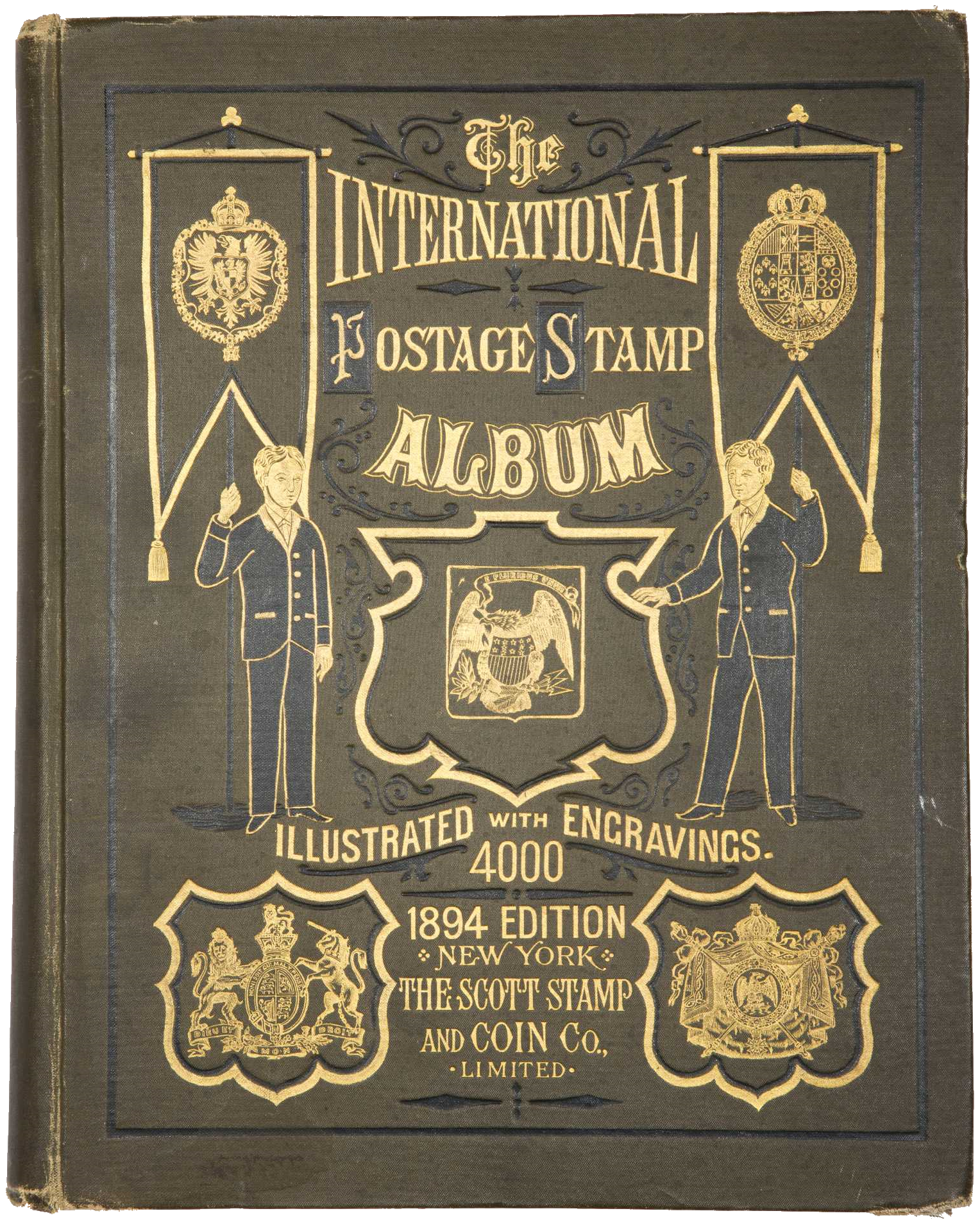Front cover of a Scott International Stamp Album, 1894 edition