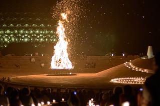 India, Auroville, Bonfire 2017