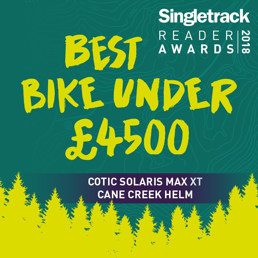 Singletrack award winner 2018. Cotic SolarisMAX