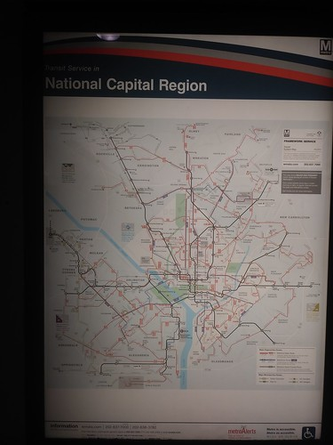 WMATA metropolitan transit maps at Gallery Place Station