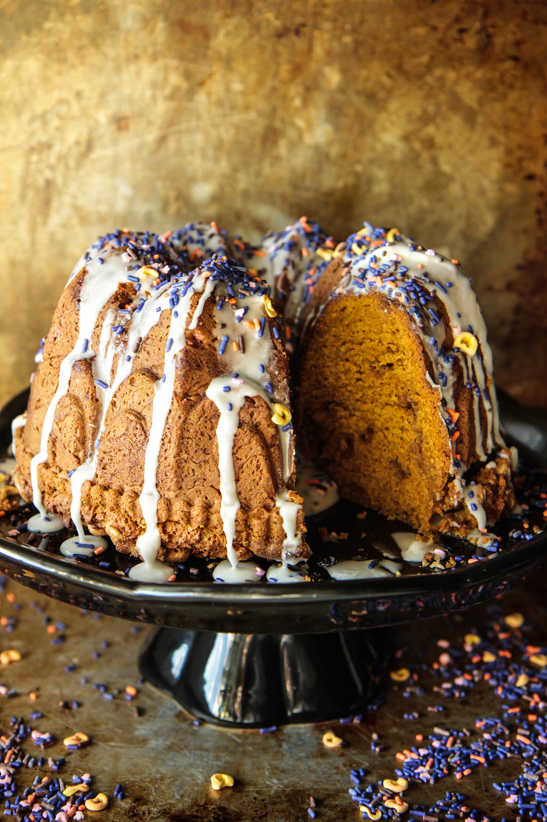 Pumpkin White Chocolate Bundt Cake- Gluten-Free and Vegan from Heather