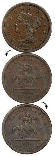 Baldwin Horseman $10 on Large Cent