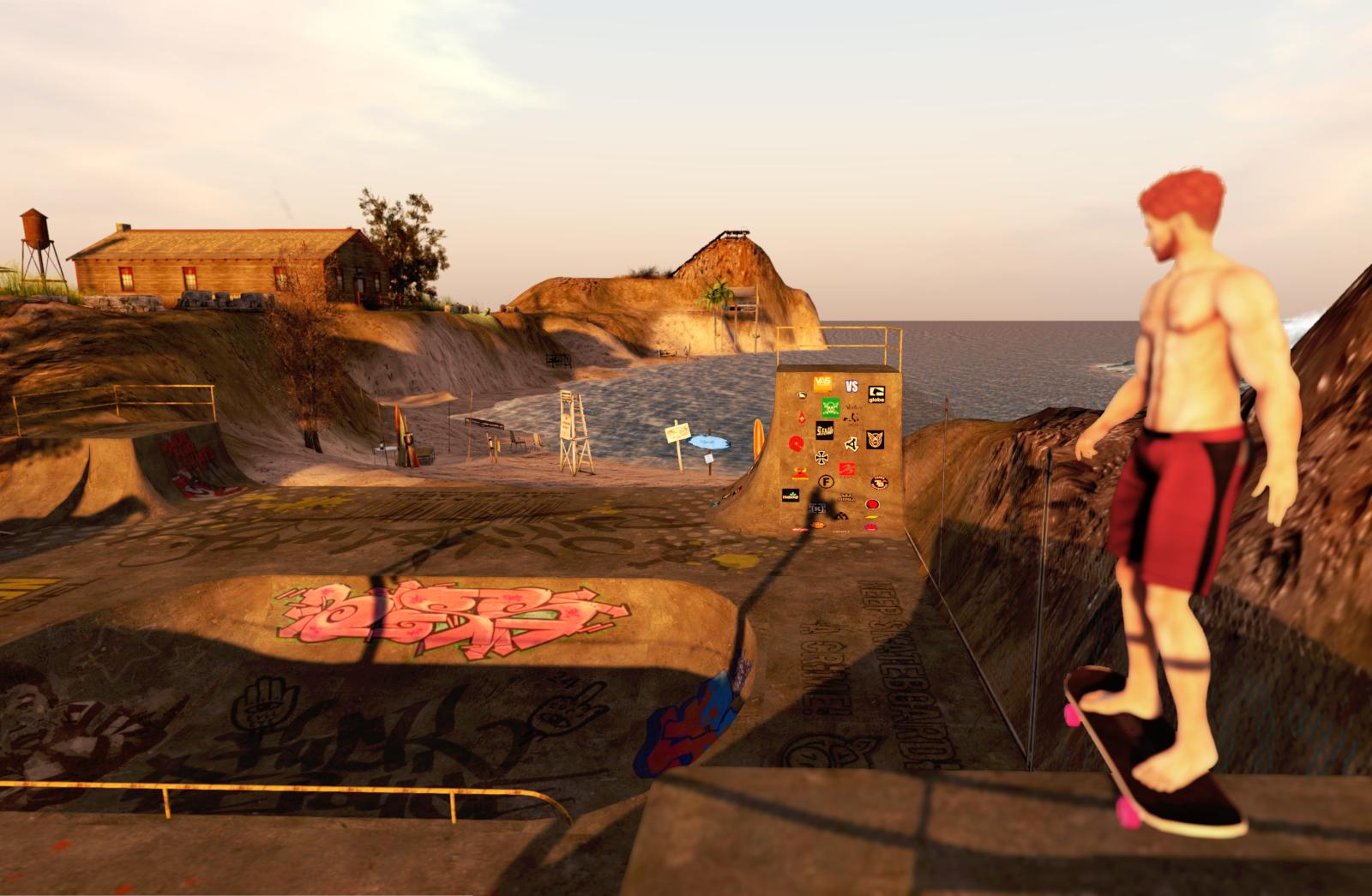 Ricco at the skateboarding area