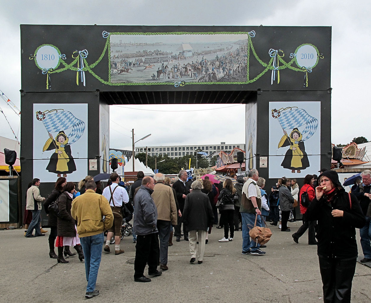 Main entrance to the Historical Oktoberfest in Munich, Germany. Photo taken by Richard Huber in September 2010.