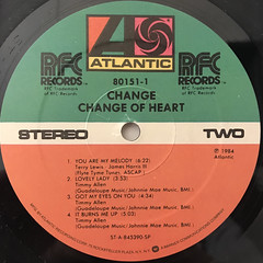 CHANGE:CHANGE OF HEART(LABEL SIDE-B)