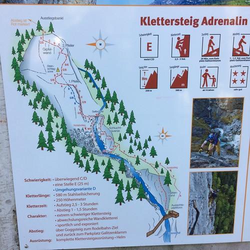 Klettersteig Adrenalin ( E ) 2018