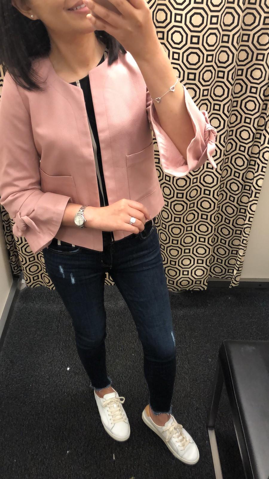LOFT Outlet Tie Sleeve Jacket, size XXSP