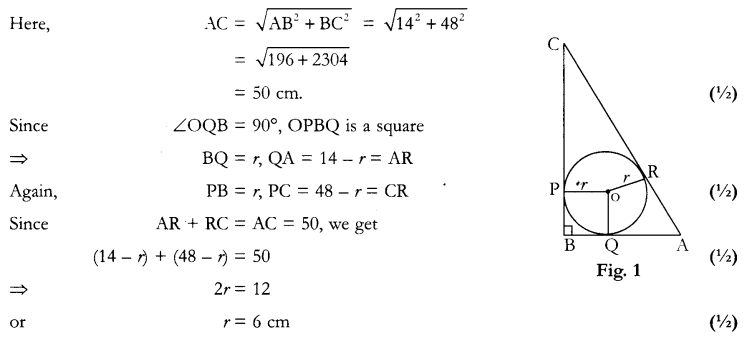 CBSE Sample Papers for Class 10 Maths Paper 12 Q 9