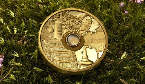 Old Vatted Glenlivet 1862 scotch whiskey coin