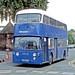 Blue Bus, Rugeley: PSC323G leaving Cannock Market Place