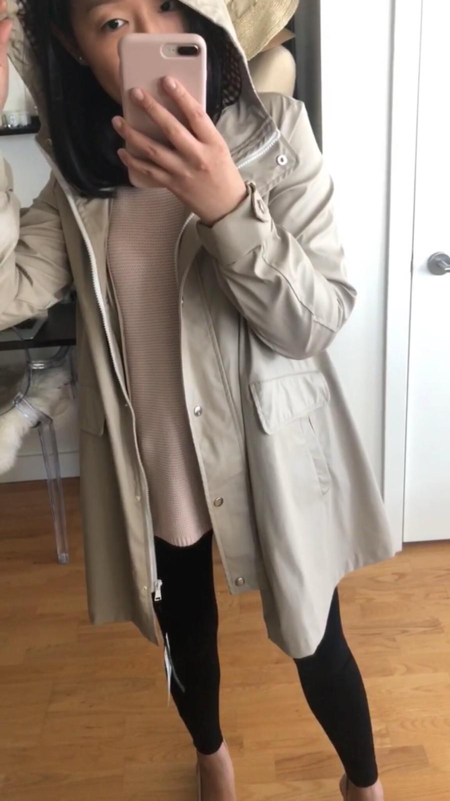 Zara Cape Raincoat (item no. 2969/244), size XS