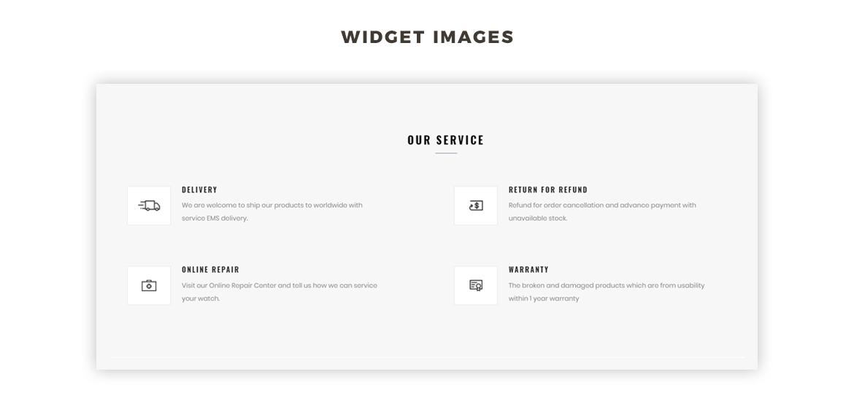 Widget Image - Hand Watch online store