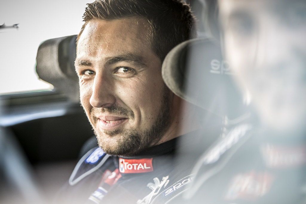 COMBE Geoffrey (FRA), PEUGEOT RALLY ACADEMY, Peugeot 208 T16, portrait during the 2018 European Rally Championship PZM Rally Poland at Mikolajki from September  21 to 23 - Photo Gregory Lenormand / DPPI