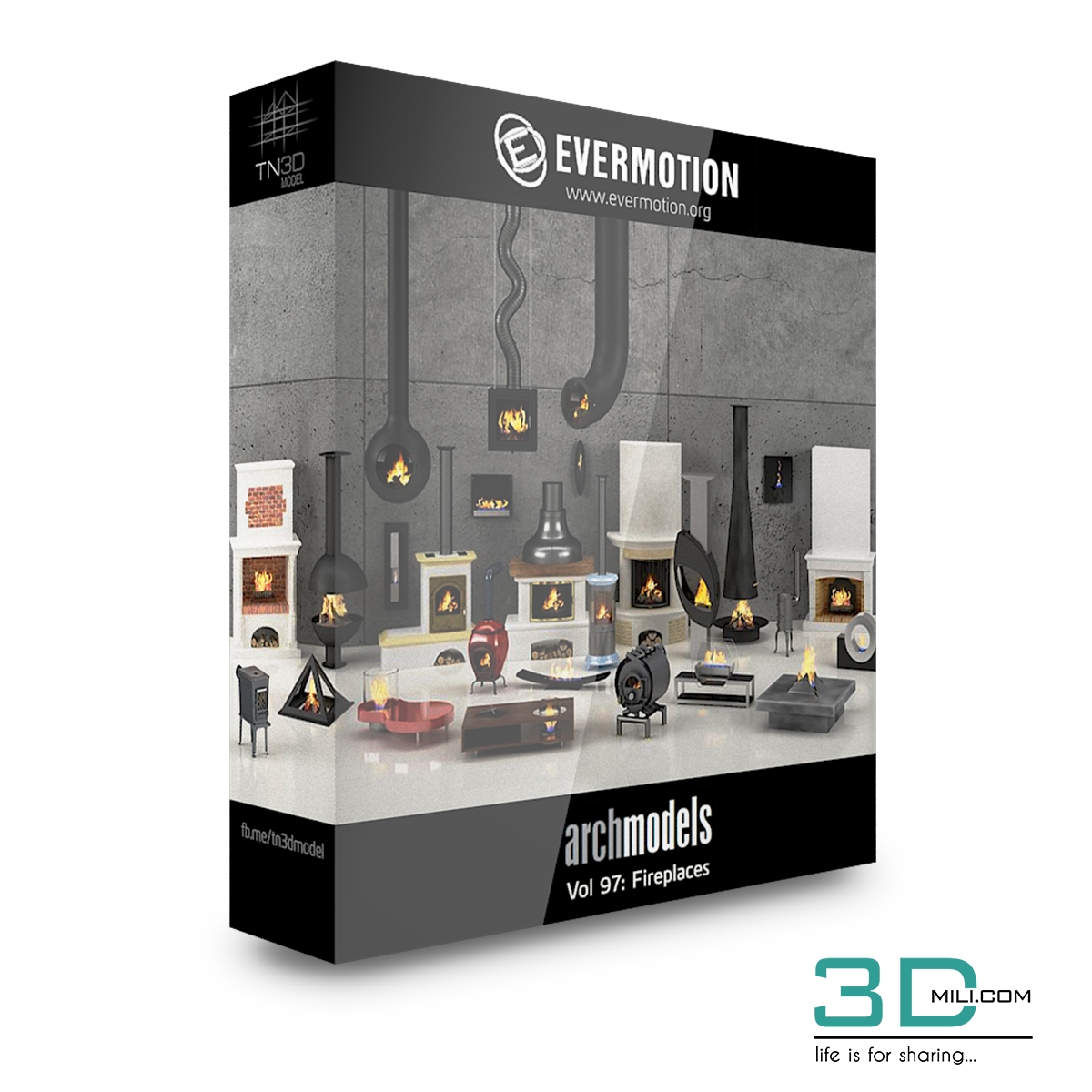 3dSkyHost: Evermotion Archmodels 3d model