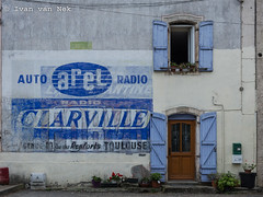 Multiple layers of ghost signs in Saint-Martory - Photo of Cazeneuve-Montaut