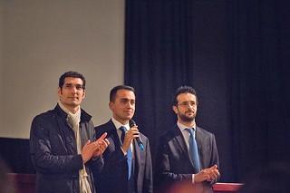 L'Abbate, Scagliusi e il vicepremier Luigi Di Maio