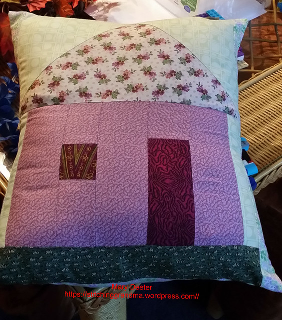 quick Pillow project with granddaughter